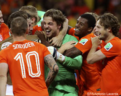 Krul the hero as the Dutch reach semis